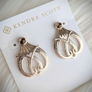 Kendra Scott custom Andi smoky quartz gold studs